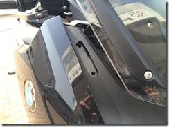 BMW C600 ミラーポストカバー